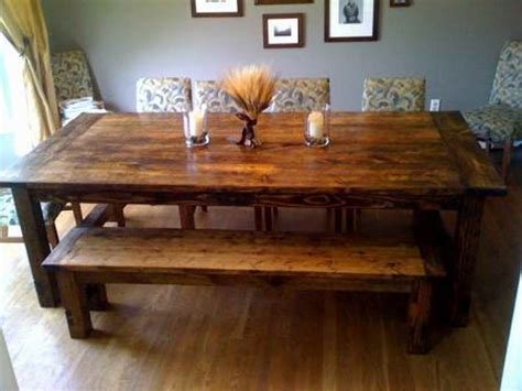 build a rustic dining room table planning ideas diy farm table plans farm house table