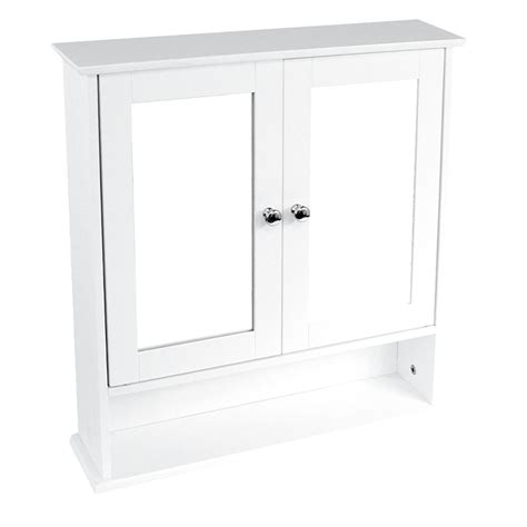 cheap mirrored bathroom cabinets bathroom wall cabinet double mirror door wooden white