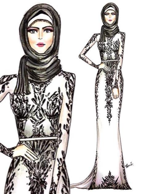 drawing pattern abaya 15 best hijab drawings images on pinterest hijab
