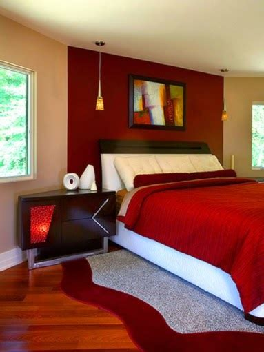 red bedroom wall ideas habitaciones en color rojo dormitorios colores y estilos