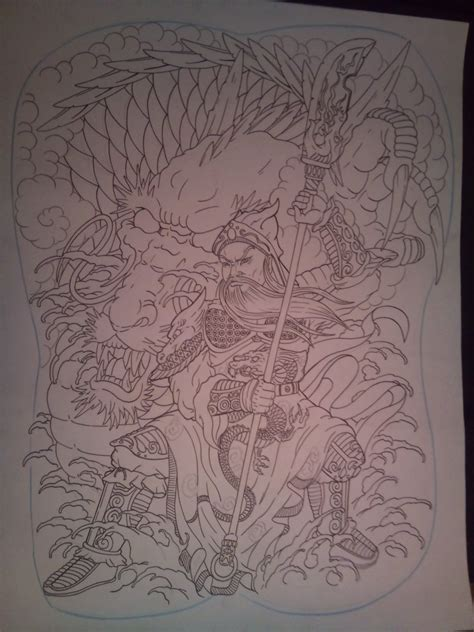 guan gong tattoo design guan yu back piece by tonywave33 on deviantart