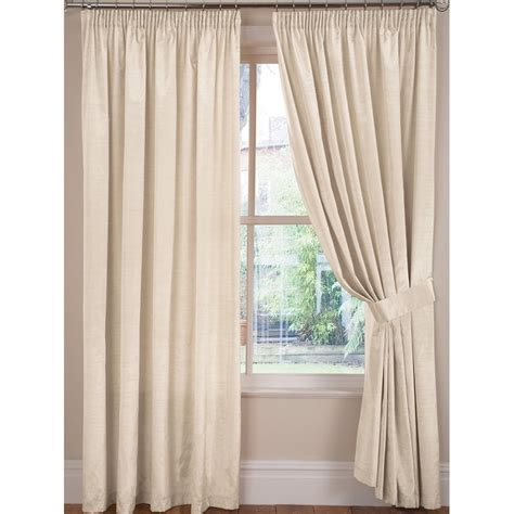 top curtains luxury faux silk tape top curtains pair finished in