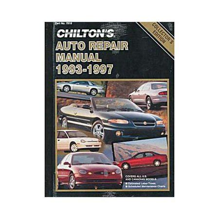 what is the best auto repair manual 1993 dodge ram van b250 seat position control chilton s auto repair manual 1993 1997 walmart com