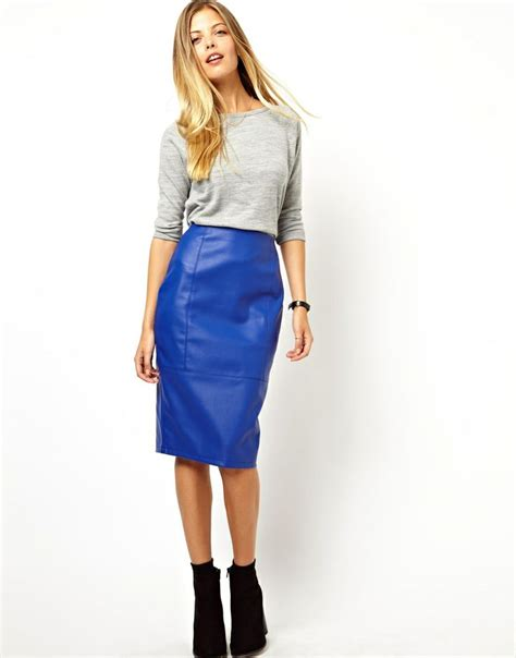 best blue leather skirt photos 2017 blue maize
