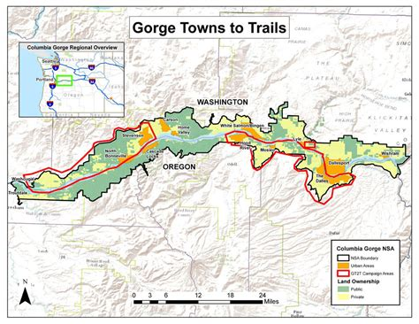 river gorge map town to town trekking vision for columbia river gorge inches forward nw news network