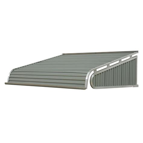 aluminum awnings nuimage awnings 8 ft 1500 series door canopy aluminum awning 18 in h x 48 in d in