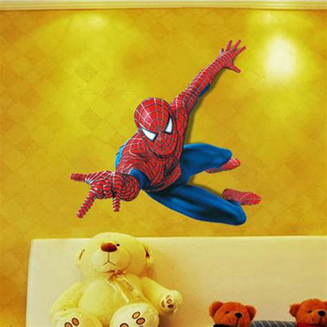 superhero wall decorations a superhero wall decor 3d 3d spiderman wall stickers for kids rooms 110 90cm