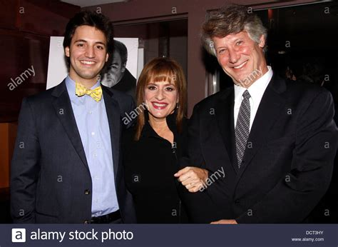 patti lupone with her son joshua johnston and husband matthew stock photo royalty free image