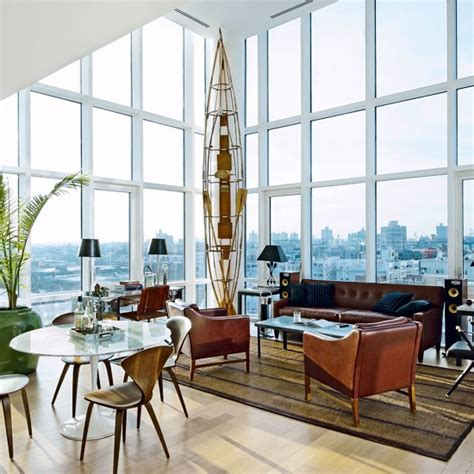 modern vintage interior design vintage chic penthouse in williamsburg ny 171 interior