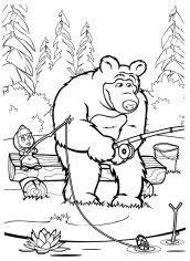 Masha e o Urso para colorir e imprimir