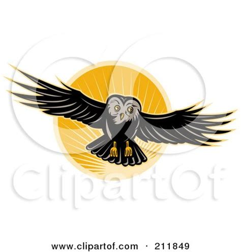 flying owl clipart clipart animal logo icons 3 royalty free vector