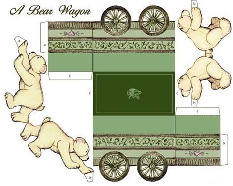 How To Make A Paper Wagon - 281 best images about paper toys on free