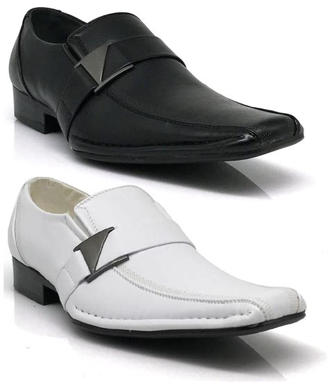 leather dress shoes formal wedding prom slip on buckle