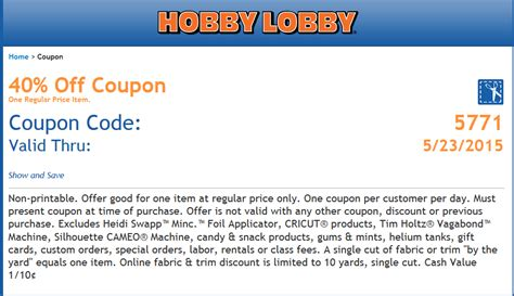printable barcode 40 off coupon code 2015 best auto reviews 40 coupon at hobby lobby thanksgiving deals 2018 amazon