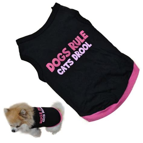 top pet gifts dog tshirt dogs rule cats drool top pet gifts