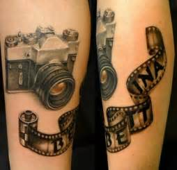 arm realistic camera tattoo by style tattoo