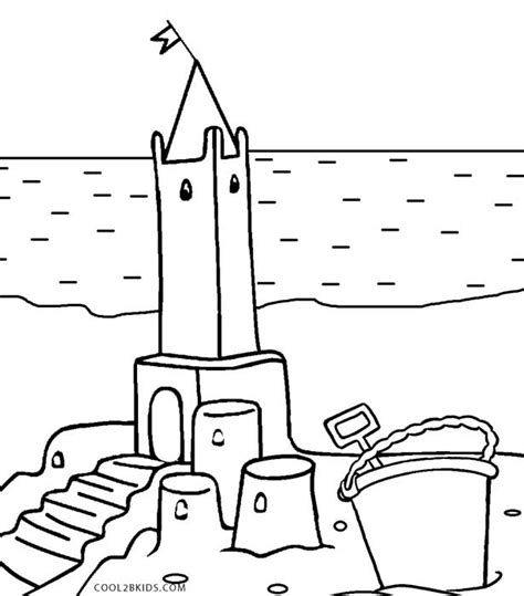 coloring page of a sand castle printable castle coloring pages for kids cool2bkids