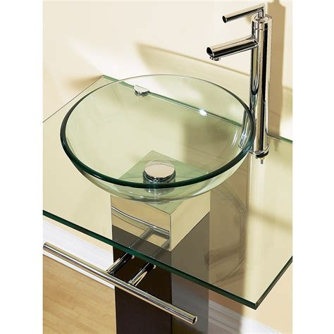 Glass Vanities And Sinks 23 bathroom vanities tempered glass vessel sinks combo