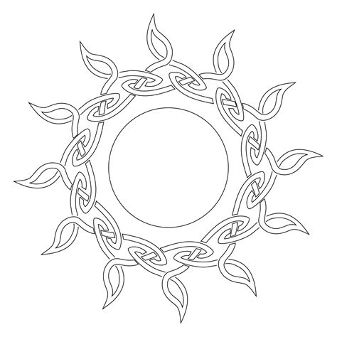 celtic sun tattoo celtic sun stencil png 1654 215 1654 henna ideas