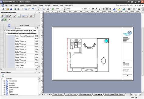 visio floor plan tutorial visio house plan tutorial