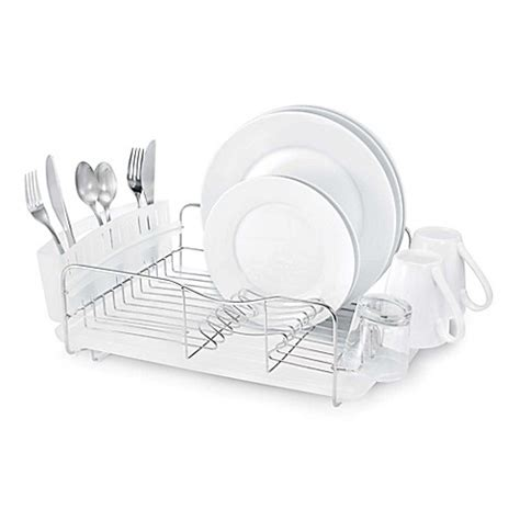 bed bath and beyond dish rack polder 174 advantage 3 piece stainless steel dish rack bed