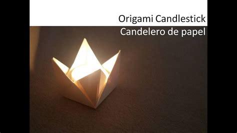 origami kerzenhalter origami candle holder tealight diy tutorial candelabro
