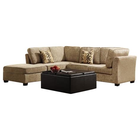 burke sectional trent home burke 5 piece sectional in brown beige chenille