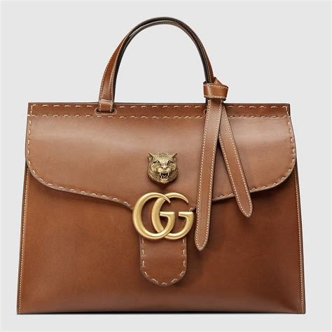 Gucci Bee Top Handle 2017 Medium Size Brown Hw 1623 Vncwfo gucci gg marmont bag reference guide spotted fashion