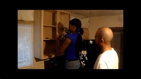 installing kitchen cabinets youtube do it yourself kitchen remodel part v installing