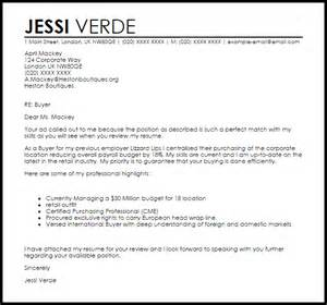 buyer cover letter sample livecareer