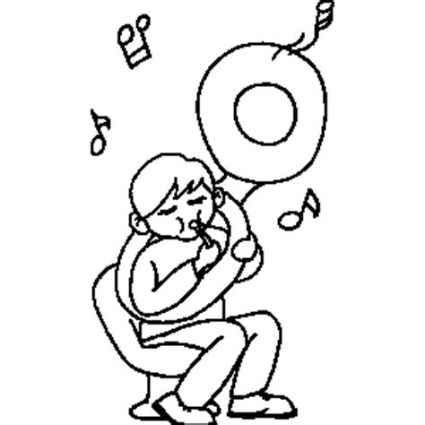 tuba coloring page coloring pages