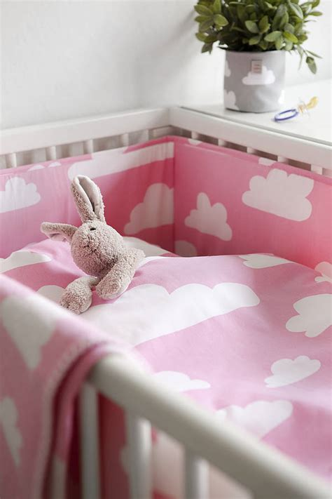 loading zoom kids best clouds pink cotton bedroom cot bed duvet cover set by nubie modern kids boutique