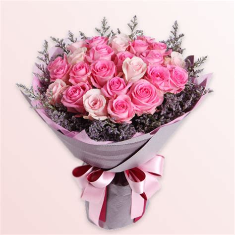 03580 Squishy Flower Squishy Bunga Selusin rangkaian buket bunga untuk pacar pink fresh florist part 1