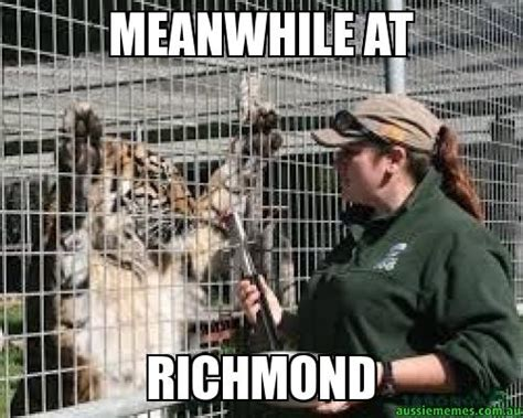 Richmond Memes - meanwhile at richmond richmond tigers trash talk
