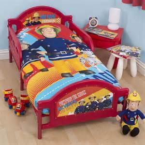 feuerwehrmann sam bett fireman sam alarm junior cot bed duvet cover bedding set 4