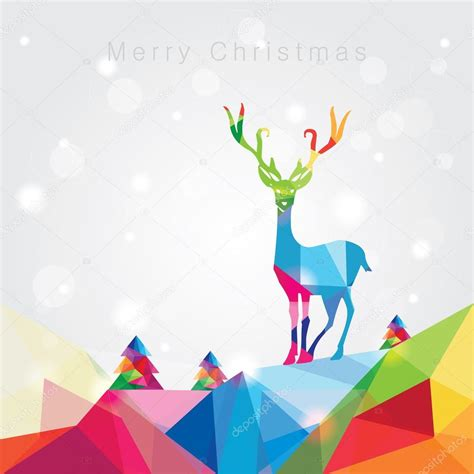 merry christmas modern modern trendy merry christmas landscape stock vector