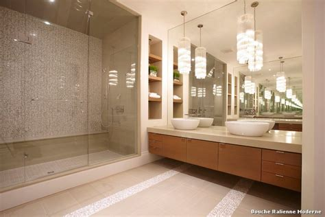Merveilleux Idee Deco Salle De Bain Ikea #4: douche-italienne-moderne-with-contemporain-salle-de-bain-4.jpg