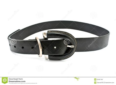 s black leather belt stock photo image 22467190