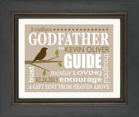 godfather gift 8x10 print personalized gift for godfather