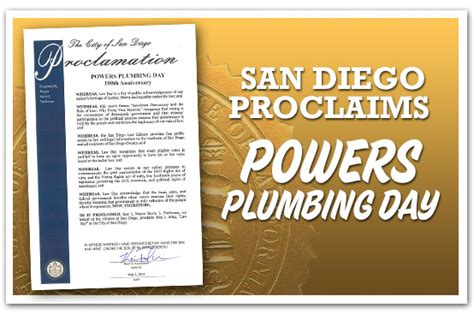Plumbing In San Diego by Powers Plumbing San Diego Plumber Excellent Prices