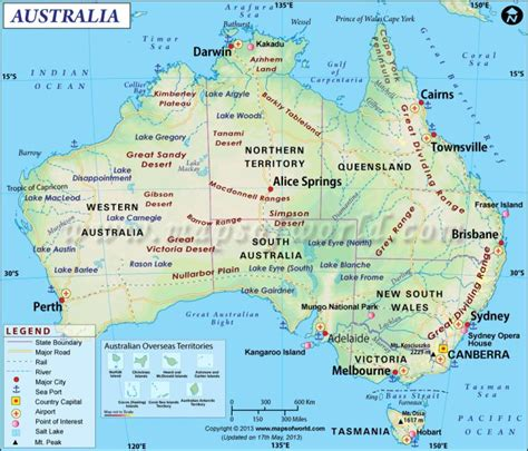 map austraila map of australia
