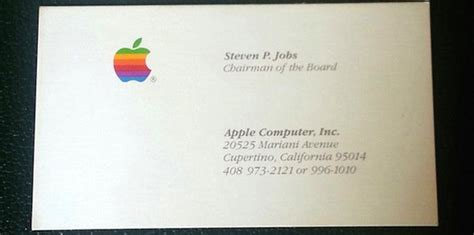 id card design for mac got 3 000 you could buy steve jobs business cards