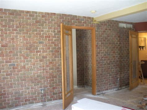 faux brick interior wall home depot home design and style
