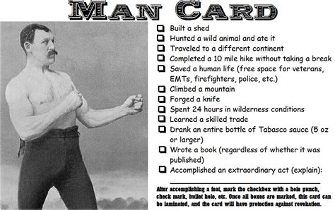 printable man card man card manly wiki fandom powered by wikia
