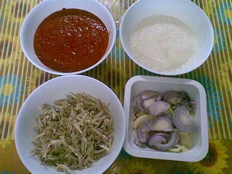 cara membuat nasi kuning lemak cara buat sambal nasi lemak