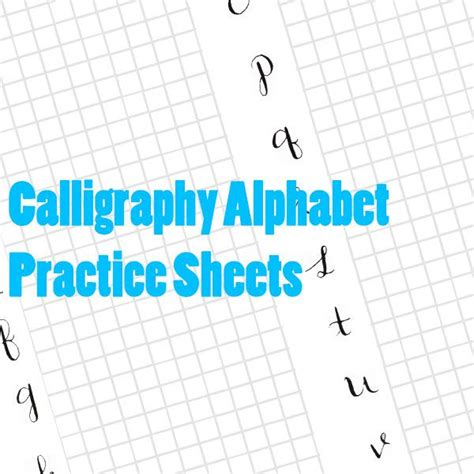printable alphabet grid free printable calligraphy alphabet practice sheets