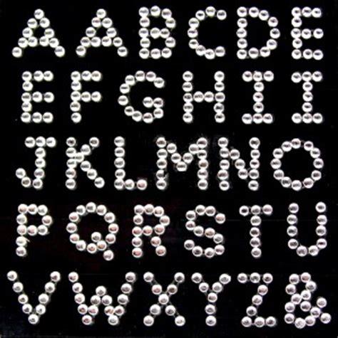 rhinestone alphabet diamante clear alphabet letters rhinestone vajazzle gems