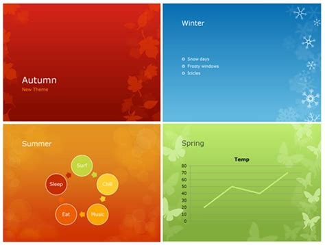new design themes for powerpoint 2010 give your presentations a seasonal flair with powerpoint s