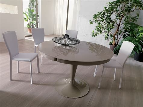 white round dining table modern