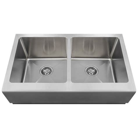 kitchen sinks direct mr direct farmhouse apron front stainless steel 33 in double basin kitchen sink 406 the home